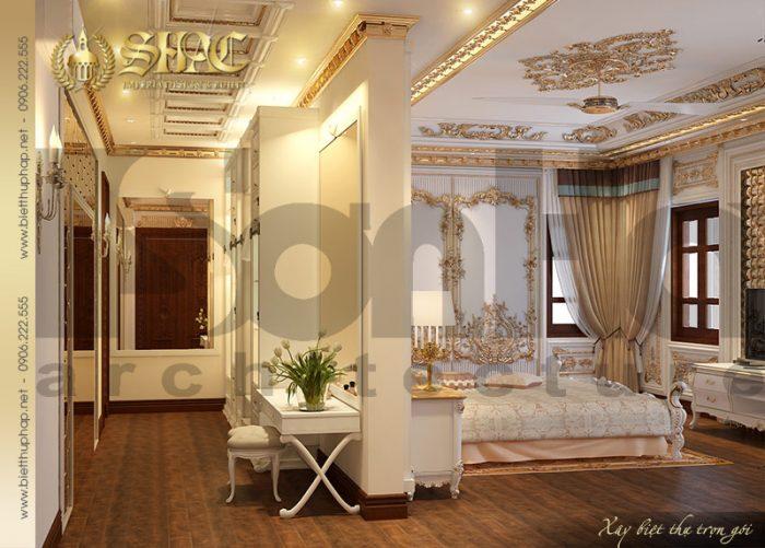 Thêm một phương án thiết kế nội thất phòng ngủ đẹp phong cách châu Âu sang trọng