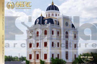 14 Mẫu thiết kế biệt thự lâu đài 4 tầng tại hải dương sh btld 0036