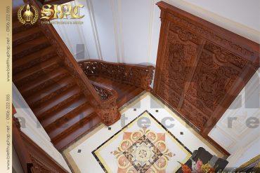 14 Mẫu thiết kế nội thất sảnh thang lâu đài đẹp tại Hà Nội SH BTLD 0026
