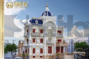14 Thiết kế biệt thự lâu đài 4 tầng tại sài gòn sh btld 0035