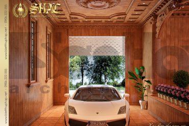 14 Thiết kế nội thất gara biệt thự lâu đài đẹp kiến trúc pháp tại Quảng Ninh SH BTLD 0022