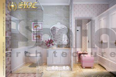 14 Thiết kế nội thất phòng tắm wc biệt thự lâu đài tại Trà Vinh SH BTLD 0021