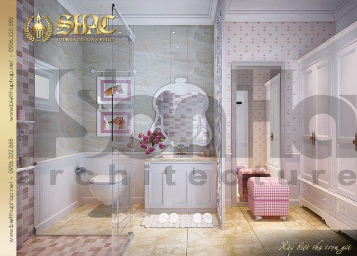 Phòng tắm và nhà vệ sinh dành cho cô con gái nhỏ