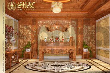 14 Thiết kế nội thất phòng thờ biệt thự lâu đài tại Quảng Ninh SH BTLD 0029