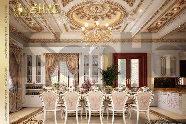 15 Mẫu nội thất phòng bếp biệt thự lâu đài tại Hà Nội SH BTLD 0032