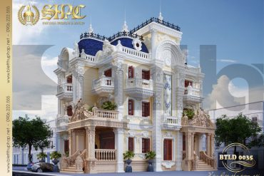 15 Mẫu thiết kế biệt thự lâu đài cổ điên đẹp tại sài gòn sh btld 0035