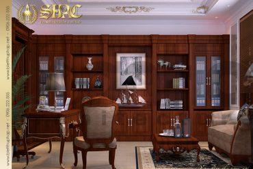15 Thiết kế nội thất phòng làm việc biệt thự lâu đài kiểu pháp tại An Giang SH BTLD 0031