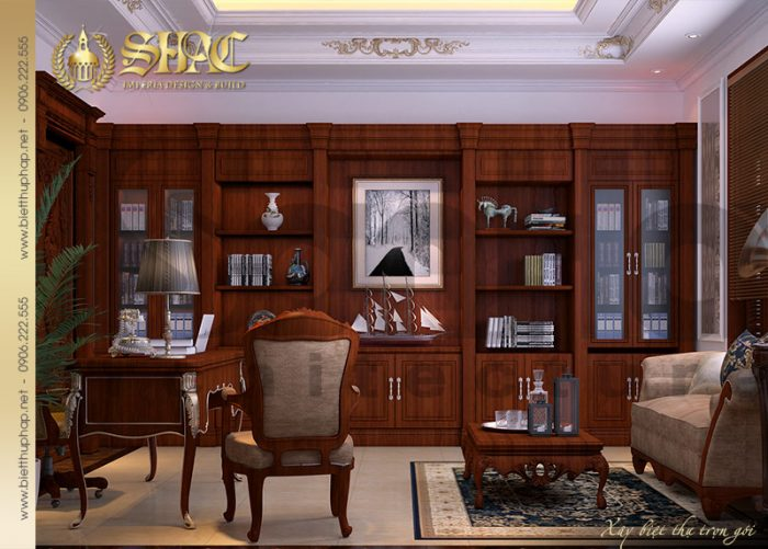 Không gian làm việc được đầu tư thiết kế nội thất đẹp cùng cách bày trí khoa học