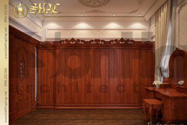 15 Thiết kế nội thất phòng thay đồ biệt thự cổ điển kiểu pháp 3 tầng tại Cần Thơ SH BTP 0036