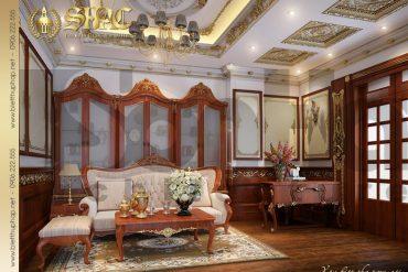 15 Thiết kế phòng sinh hoạt chung biệt thự lâu đài pháp tại Nam Định SH BTLD 0026