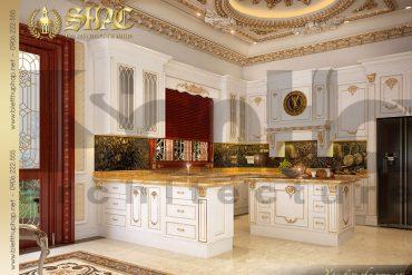 16 Mẫu thiết kế nội thất phòng bếp biệt thự lâu đài tại Hà Nội SH BTLD 0032
