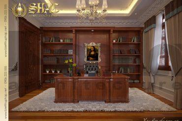 16 Thiết kế nội thất phòng đọc sách biệt thự lâu đài kiểu pháp tại An Giang SH BTLD 0031