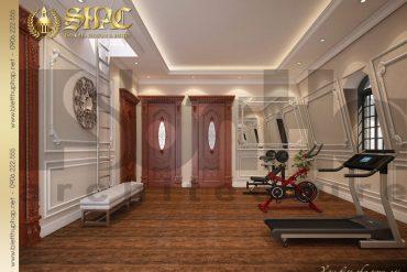 16 Thiết kế nội thất phòng tập gym biệt thự cổ điển đẹp tại Cần Thơ SH BTP 0036