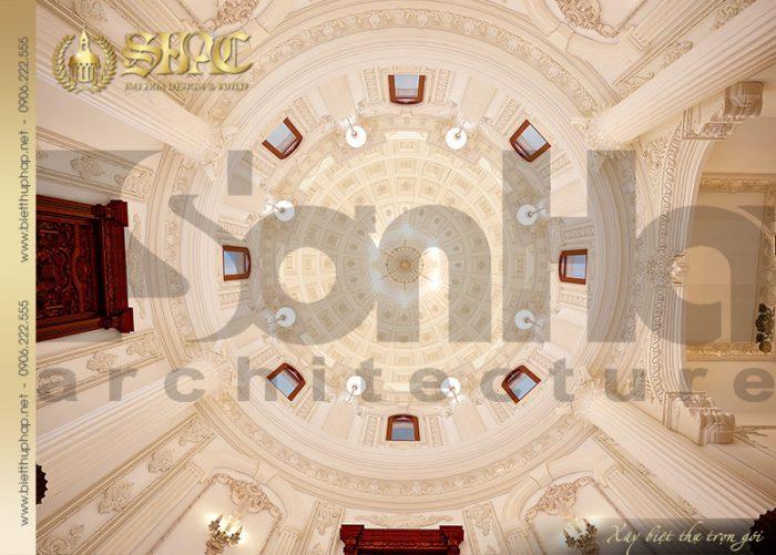 Thiết kế ấn tượng của mái vòm biệt thự phong cách lâu đài đẳng cấp tại Hà Nội của SHAC