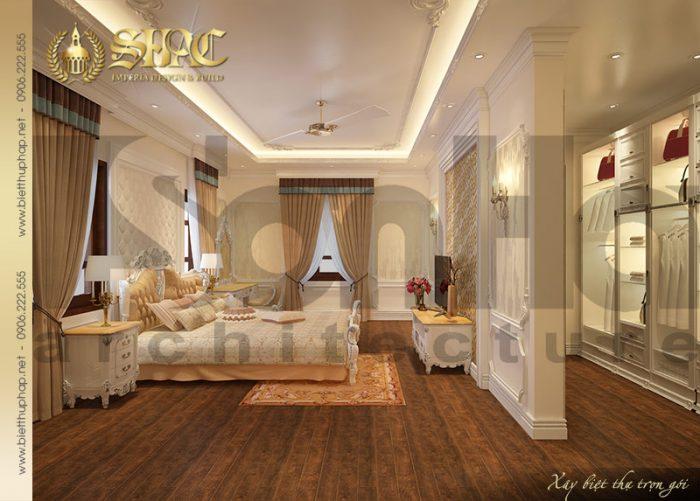 Mẫu thiết kế nội thất phòng ngủ kiểu Pháp cổ điển chinh phục mọi ánh nhìn