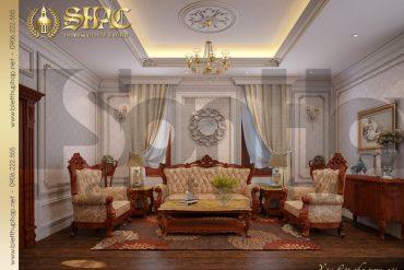 17 Mẫu thiết kế nội thất phòng sinh hoạt chung biệt thự cổ điển đẹp tại Cần Thơ SH BTP 0036