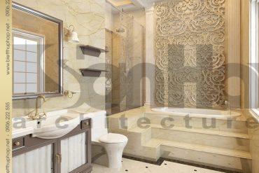 17 Mẫu thiết kế nội thất phòng tắm wc biệt thự lâu đài 5 tầng tại Hà Nội SH BTLD 0032