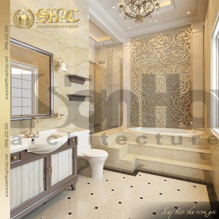 Mẫu thiết kế nội thất phòng tắm biệt thự lâu đài pháp tại Hà Nội