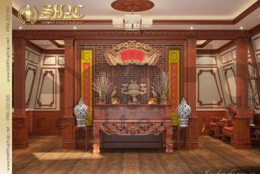 18 Mẫu thiết kế nội thất phòng thờ của biệt thự 3 tầng tại Cần Thơ SH BTP 0036