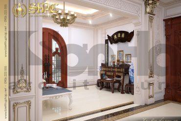 18 Thiết kế nội thất phòng thờ biệt thự lâu đài kiểu pháp tại An Giang SH BTLD 0031