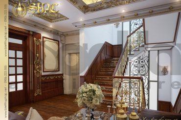 18 Thiết kế sảnh thang biệt thự kiểu lâu đài tại Nam Định SH BTLD 0026