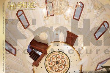 19 Mẫu thiết kế nội thất tầng mái vòm lâu đài pháp tại Hà Nội SH BTLD 0026