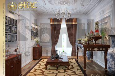 19 Thiết kế nội thất phòng thờ biệt thự lâu đài tại Trà Vinh SH BTLD 0021
