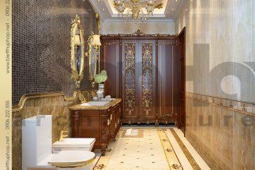 19 Thiết kế phòng tắm wc biệt thự kiểu lâu đài tại Nam Định SH BTLD 0026