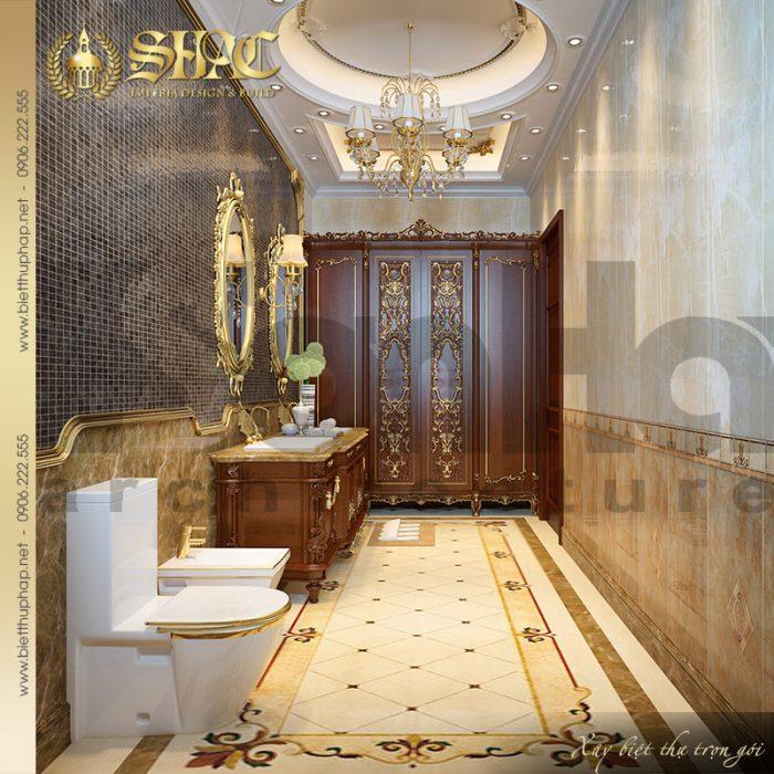 Mẫu thiết kế nội thất phòng tắm – nhà vệ sinh biệt thự lâu đài tại Nam Định