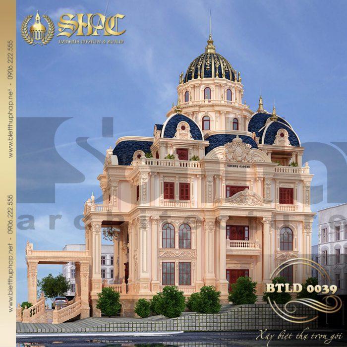 Mẫu thiết kế biệt thự lâu đài cổ điển xa hoa nổi bật tại Sài Gòn