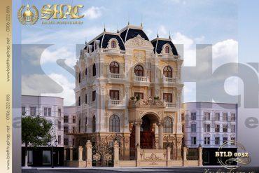 2 Mẫu biệt thự lâu đài 5 tầng tại Hà Nội SH BTLD 0032