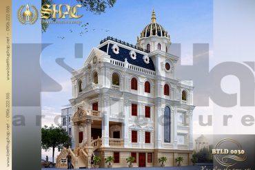 2 Mẫu biệt thự lâu đài kiểu pháp 3 tầng tại Lạng Sơn SH BTLD 0030