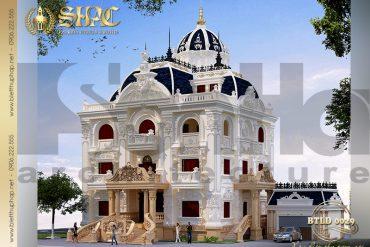 2 Mẫu biệt thự lâu đài kiểu pháp 3 tầng tại Quảng Ninh SH BTLD 0029