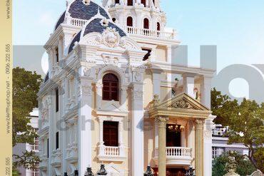 2 Mẫu biệt thự lâu đài kiểu pháp 4 tầng tại Đà Nẵng SH BTLD 0034