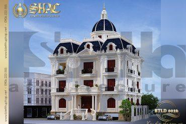 2 Mẫu biệt thự lâu đài kiểu Pháp diện tích 216m2 tại Nam Định SH BTLD 0026