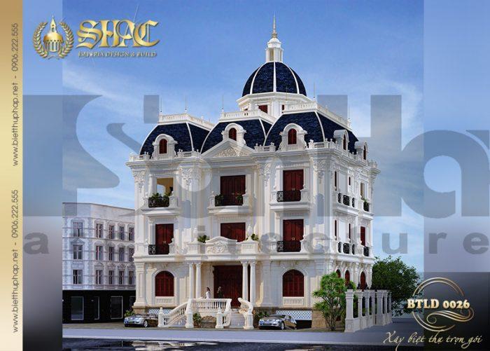 Ngôi biệt thự lâu đài pháp 3 tầng tại Nam Định ở hữu đường nét kiến trúc tinh tế mang vẻ đẹp đầy sức mê hoặc