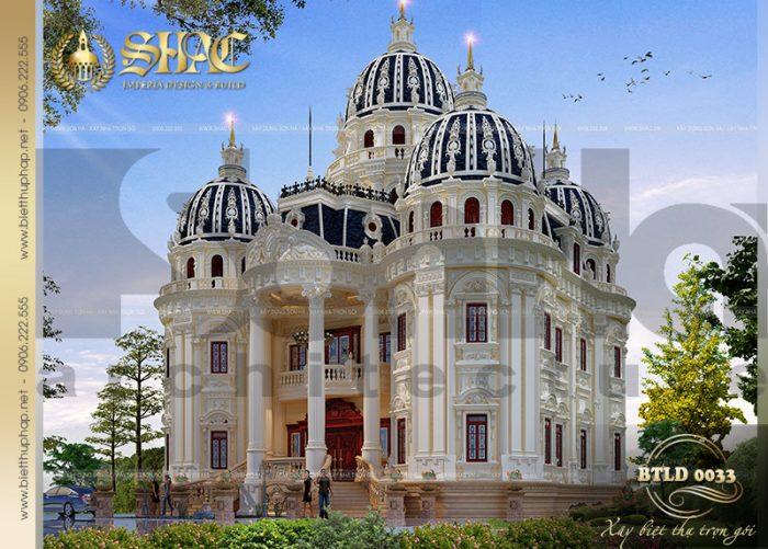 Kiến trúc mẫu biệt thự lâu đài pháp được thiết kế mang những tinh hoa của phong cách cổ điển