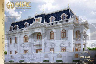 2 Thiết kế biệt thự đẹp kiểu pháp cổ tại Can Tho SH BTP 0036