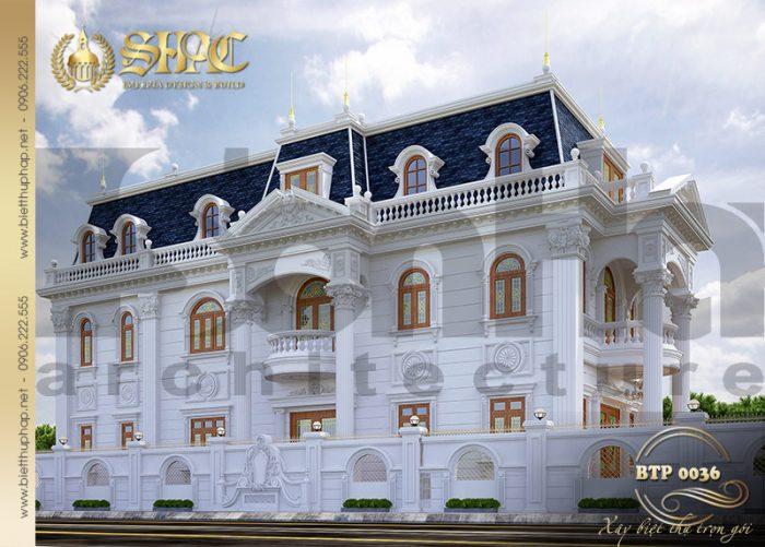 Sở hữu diện mạo kiến trúc đẹp, cân đối ngôi biệt thự pháp 3 tầng tại Cần Thơ dễ dàng thu hút mọi ánh nhìn