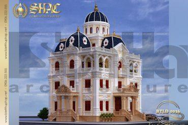2 thiết kế biệt thự lâu đài kiểu pháp tại Hải Dương SH BTLD 0036