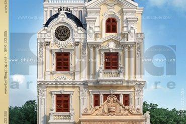 2 Thiết kế biệt thự lâu đài kiểu pháp tại Quảng Ninh SH BTLD 0020
