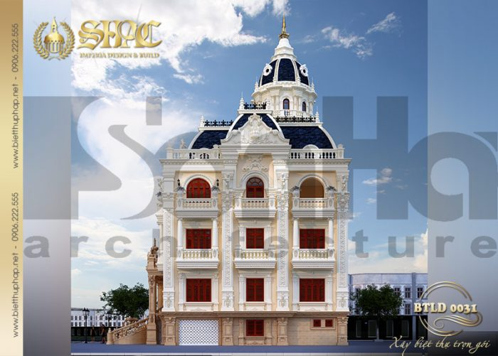 Khám phá mẫu thiết kế biệt thự lâu đài 6 tầng sang trọng và đẳng cấp tại An Giang