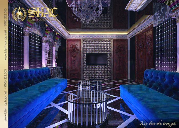 Phương án thiết kế nội thất phòng karaoke biệt thự lâu đài tại Hà Nội