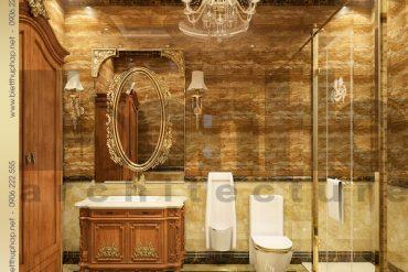 20 Thiết kế phòng tắm nhà vệ sinh biệt thự kiểu lâu đài tại Nam Định SH BTLD 0026