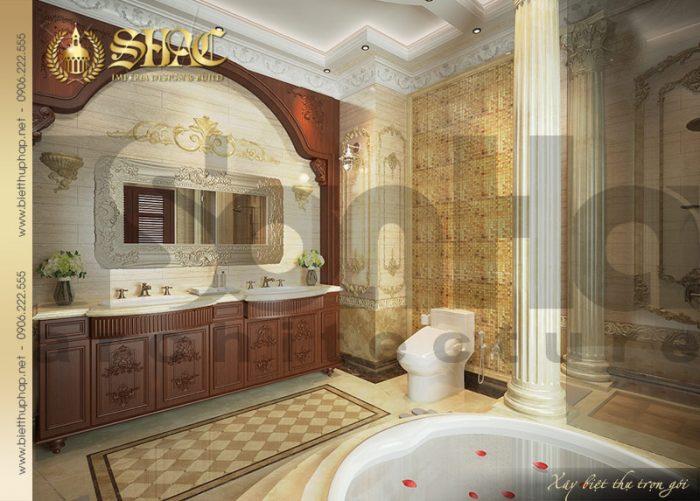 Mẫu phòng tắm và nhà vệ sinh biệt thự cổ điển lâu đài tại Hà Nội