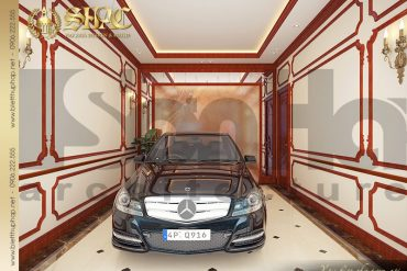 22 Thiết kế gara biệt thự cổ điển 3 tầng tại Hà Nội SH BTLD 0025
