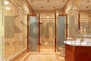 22 Thiết kế nội thất wc biệt thự lâu đài tại Quảng Ninh SH BTLD 0029