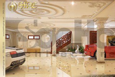 23 Mẫu thiết kế nội thất gara biệt thự lâu đài tại Hà Nội SH BTLD 0026
