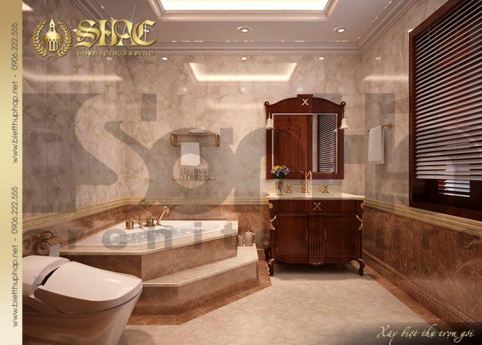 Mẫu thiết kế nội thất phòng tắm và nhà vệ sinh khoa học