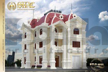 3 Mẫu biệt thự lâu đài đẹp kiểu pháp tại Quảng Ninh SH BTLD 0022